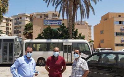 الإجراءات الاحترازية بِالمجمع الإِداري لجامعة بنغازي بِالحميضة