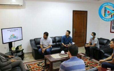 رئيس جامعة بنغازي يناقش الإجراءات الاحترازية لاستئناف الدراسة مع الهلال الأحمر