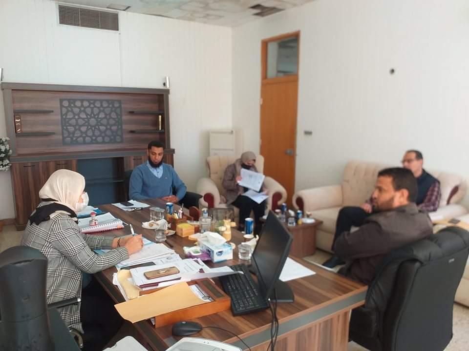 اجتماع مجلس كليّة القانون جامعة بنغازي