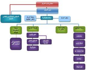 الهيكل الاداري للمركز