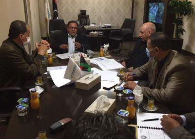 القيب يرسل فريق لمعاينة مباني جامعة بنغازي