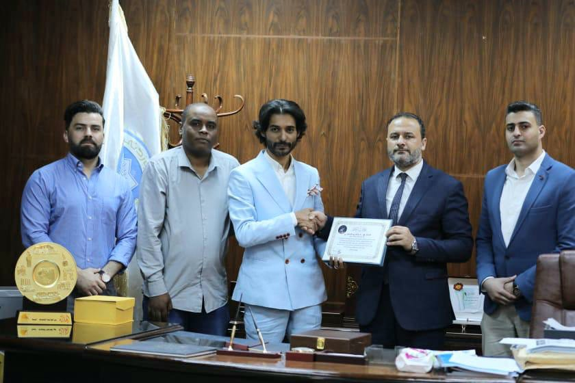 رئيس الجامعة يلتقي إعلاميين من بنغازي